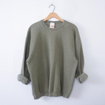 Vintage 90's plain moss green sweatshirt pullover, men's size large
