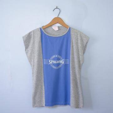 Vintage 80's Spalding gym sleeveless tee shirt, women's size medium