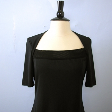 Vintage 90's stretchy black mini dress, size large / medium