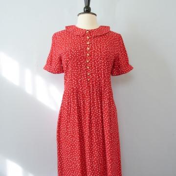 90's grunge red dress, women's size medium