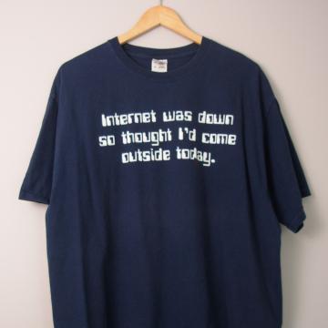 00's Internet Down tee shirt, size XL