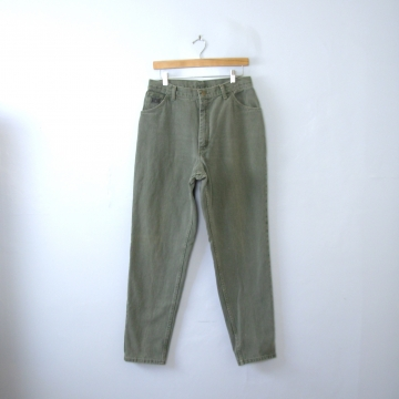 Vintage 90's Wrangler high waisted jeans, sage green denim mom jeans, women's size 14 / 12