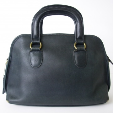 Vintage 90's Coach Baxter black leather satchel purse