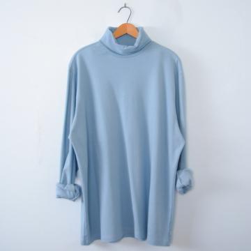 Vintage 90's light blue turtleneck long sleeved shirt, men's size XL