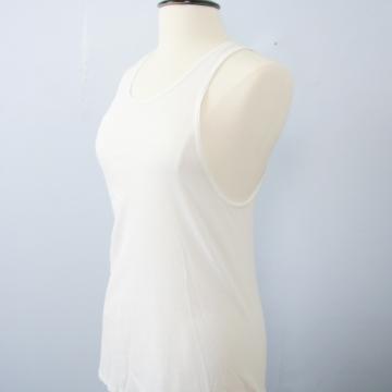 Vintage 70's distressed plain white tank top, men's size medium