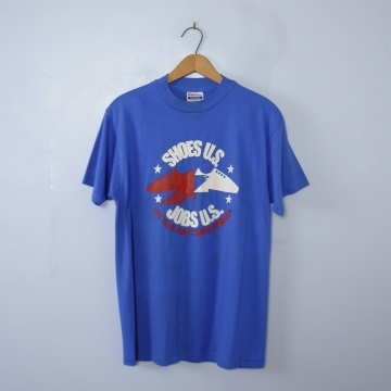 Vintage 80's USA jobs graphic tee shirt, men's size large