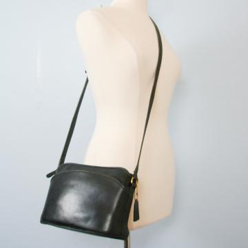 80's distressed Coach black top zip Anderson crossbody purse 9976