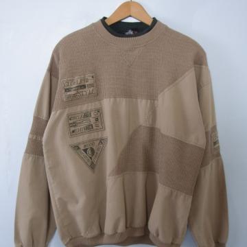 Vintage 80's checkpoint taupe sweatshirt, men's size medium