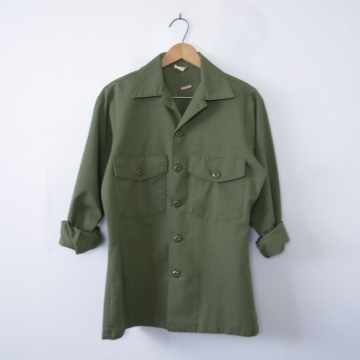 Vintage 70's OG-507 army green military jacket, size small