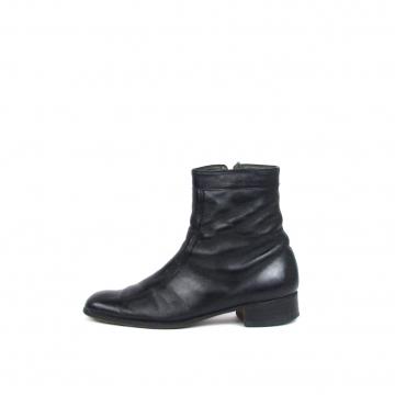 Vintage 80's black leather chelsea boots, beatle ankle boots, men's size 9