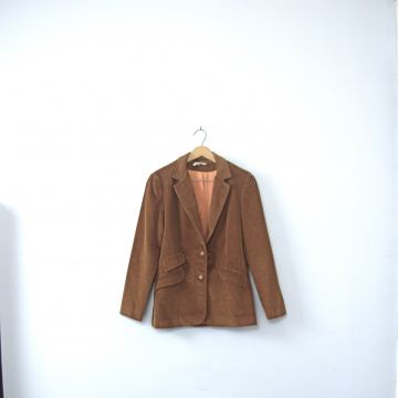 Vintage 70's brown corduroy blazer jacket, women's size Small