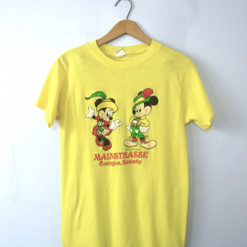 Vintage 80's rare Minnie and Mickey mouse German heritage shirt, graphic tee, size small