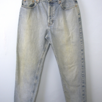 Vintage 90's Gap distressed denim jeans, straight leg, loose fit, size 10 / 8