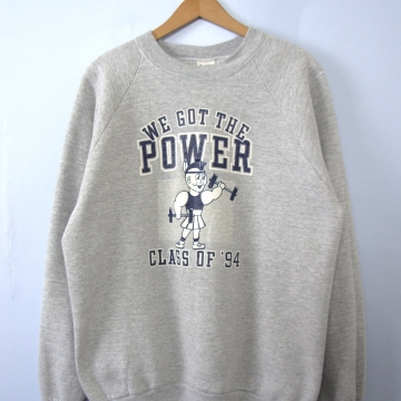 Vintage 90's grey sweatshirt, we got the power '94, size xl