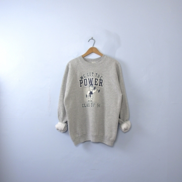 Vintage 90's grey sweatshirt, we got the power '94, size xl