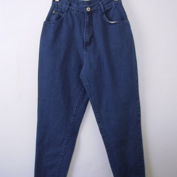 Vintage 80's high waisted jeans, mom jeans, blue denim, tapered leg, size 8 / 6