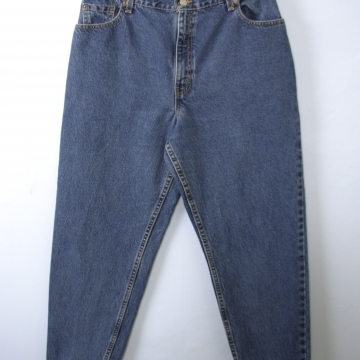 Vintage 80's Levi's 550 jeans, high waisted jeans, mom jeans, dark denim, size 16 / 14