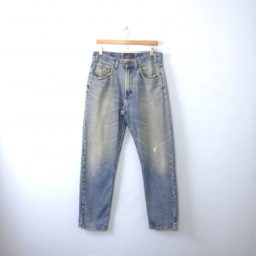 Vintage 90's distressed jeans, light denim boyfriend jeans, men's size 34 / 33