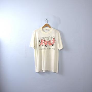 Vintage 80's Cincinnati Bicentennial graphic tee, jazzy pigs shirt, size large