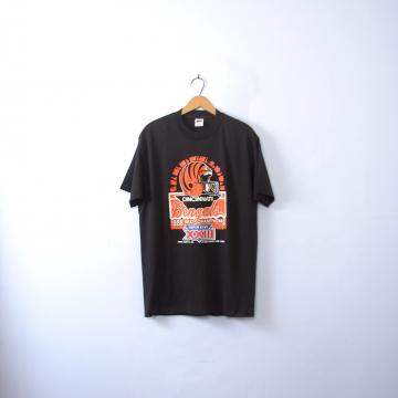 Vintage 80's Cincinnati Bengals shirt, graphic tee, Super Bowl XXIII football shirt, size XL