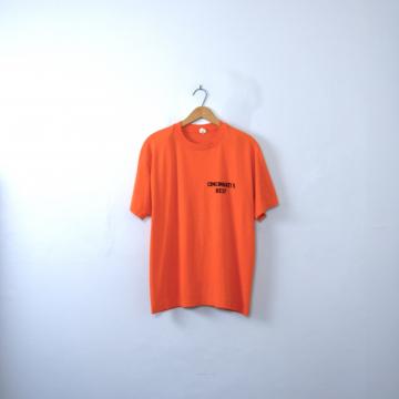 Vintage 80's Cincinnati's Best shirt, Ohio orange tee, size large