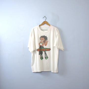 Vintage 90's graphic tee, Betty Boop girl power Talk To The Hand shirt, size XL